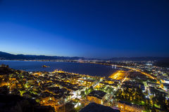Nafplio by night. The ancient city of Nafplio by night, Greece Stock Images