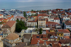 Nafplio Overview. Overlooking the town of Nafplio, Greece Stock Photo