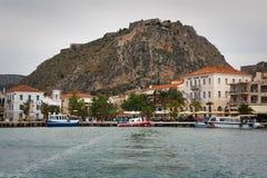 Nafplio and Palamidi castle, Greece. Stock Photo