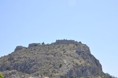 Nafplio Palamidi Fortress from Peloponnese in Greece. On august 28th 2017 stock photos