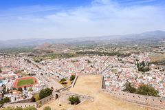 Nafplio town seen from Palamidi Castle, Greece Royalty Free Stock Photo