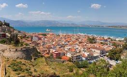 Nafplio widok, Peloponnese, Grecja Zdjęcia Stock