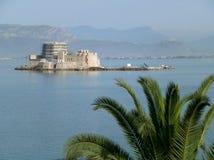 Nafplion镇老堡垒在希腊 免版税图库摄影