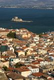 Nafplion in Greece. View of the town of nafplion in Greece Royalty Free Stock Photos