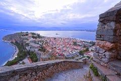 Nafplion oude stad stock afbeelding