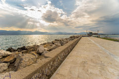 Nafplions-Pier Stockfotografie