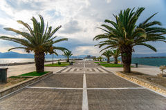 Nafplions-Pier Stockfotos