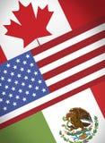 Nafta Kanada USA Mexiko stock illustrationer