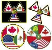 NAFTA Symbols Stock Images