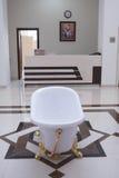 Naftalan, Azerbaijan - 20 July, 2015: interior of resort hotel Sanatorium, procedural oil bath Royalty Free Stock Photos