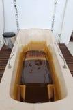 Naftalan, Azerbaijan - 20 July, 2015: interior of resort hotel Sanatorium, procedural oil bath Royalty Free Stock Photography