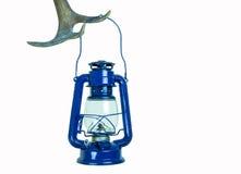Nafty lampa na poroże (odizolowywającym) zdjęcie stock