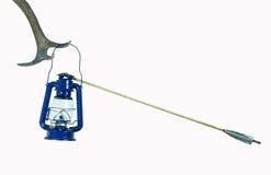 Nafty lampa uderzająca strzała (odizolowywającą) Zdjęcia Royalty Free