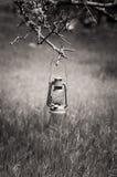 Nafty stara lampa Fotografia Stock