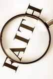 nagłówek magnifier wiary Obrazy Stock