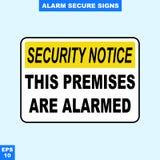 Nagłego wypadku alarm bezpieczeństwa i alarm podpisujemy wewnątrz stylową wersję, łatwą używać i drukować Obrazy Stock