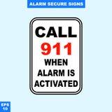 Nagłego wypadku alarm bezpieczeństwa i alarm podpisujemy wewnątrz wektor stylową wersję, łatwą używać i drukować Zdjęcia Stock