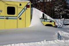 Nagły wypadek w śniegu Obraz Royalty Free