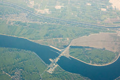 Nag Hammadi barrage, aerial view, Egypt Royalty Free Stock Photos