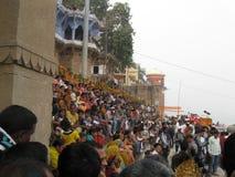 Nag Nathaiya Krishna Ceremony, le Gange, Varanasi, Inde photographie stock libre de droits