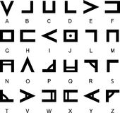 NAG Soth алфавита Стоковое фото RF