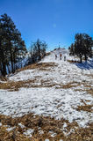 Nag Tibba Summit. Nag tibba a.ka serpents peak (9,915 ft) is the highest peak in the lesser himalayan region of Uttarakhand state in India Royalty Free Stock Photos