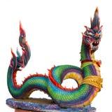 Naga (Święty Gigantyczny wąż) odizolowywający na białym tle Fotografia Royalty Free
