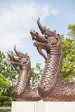 Naga ή το άγαλμα βασιλιάδων φιδιών στο ναό Ταϊλάνδη Στοκ φωτογραφία με δικαίωμα ελεύθερης χρήσης