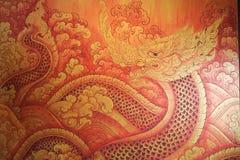 Naga, азиатский дракон Стоковая Фотография