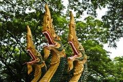 Naga ваяют в виске Lao Стоковое фото RF