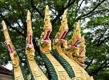 Naga ваяют в виске Lao Стоковое Фото