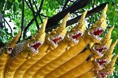 Naga ваяют в виске Lao Стоковые Фотографии RF