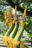 Naga ваяют в виске Lao Стоковая Фотография