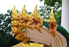 Naga ваяют в виске Lao Стоковое Изображение