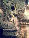 Naga в архитектуре кхмера Стоковая Фотография