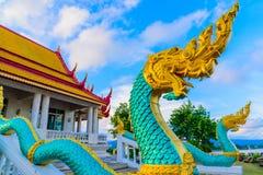 Naga в виске Wat Ahong Silavas Стоковое Изображение