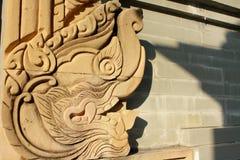 Naga в тайском виске Стоковое Изображение