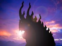 Naga, король змейки стоковое изображение