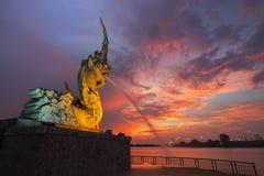 Naga на Songkhla Таиланде Стоковые Фотографии RF