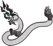 Naga тайский Иллюстрация штока
