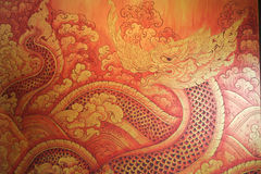 Naga, Asian dragon Stock Photography