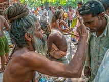 Naga Baba in Haridwar Stock Image