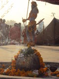 Naga Baba Kumbh Mela 14th April Procession Hardwar. Hardwar, Kumbh Mela occurs every 12 years. The  largest  spiritual congregation over 15million people in one Royalty Free Stock Photos