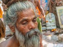 Naga Baba portrait in Haridwar Stock Photography