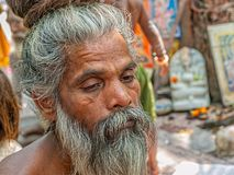 Naga baby portret w Haridwar Fotografia Stock