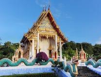 Naga bevakar templet Fotografering för Bildbyråer