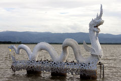Naga bianco alla perdita di Payao Fotografia Stock Libera da Diritti
