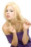naga blondynka brać na swoje barki kobiety młode Zdjęcia Royalty Free