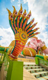 Naga. With blue sky from thailand Royalty Free Stock Images