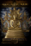 Naga and Buddha gold Royalty Free Stock Images